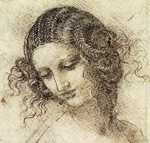 Study for the Head of Leda, Credited to Leonardo Da Vinci, c. 1505-7