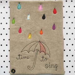 Time To Sing Mini Art Quilt Number 4 In My Umbrella