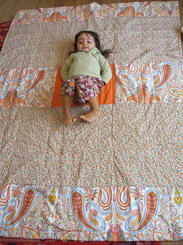 "flying geese quilt back | by ""Gayatri"""