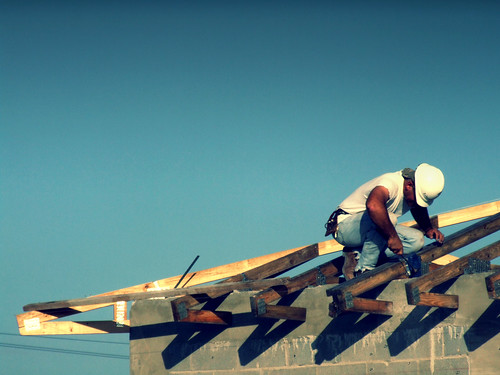 Working on the roof | by Aaron Escobar