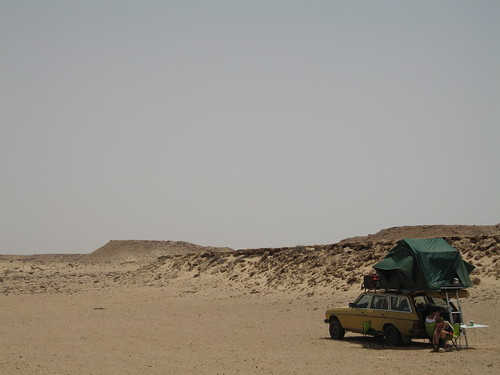 Camping in the open, Western Sahara | by 300td.org