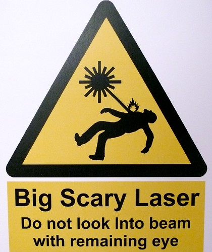 Big Scary Laser Flickr Photo Sharing