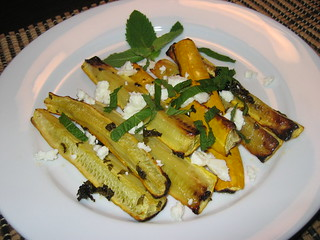 Oven Roasted Zucchini with Mint and Feta | by Kevin - Closet Cooking