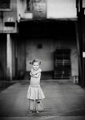 girlie on the loading dock | by Roberts Photography