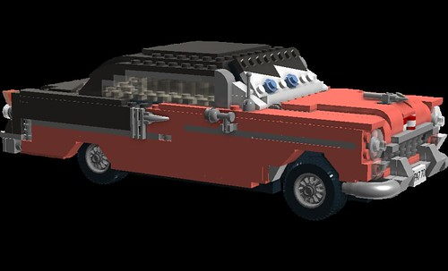 Coral - anthropomorphic 'Pixar Cars' - 1955 Chevrolet Bel Air Hardtop | by lego911