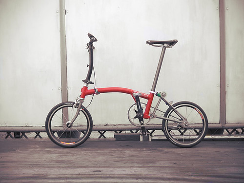 My lightweight Brompton fixed gear bike | by Littlepixel™