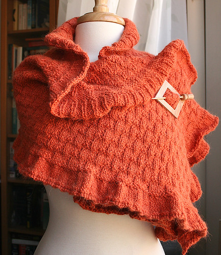 The Rococo Shawl - Hand Knit Wool & Llama Shawl | by Elena Rosenberg Wearable Fiber Art