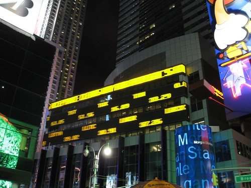Stock Ticker at Times Square | by mikeleeorg