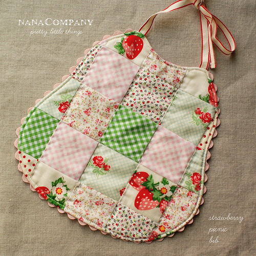 strawberry picnic bib | by nanaCompany