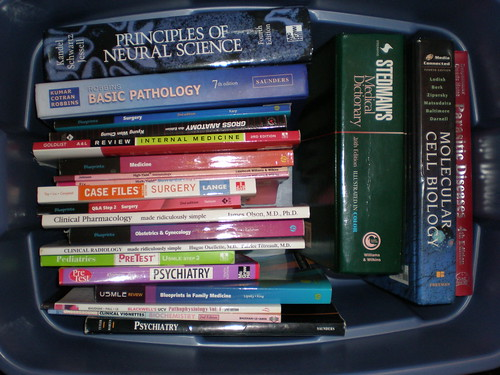 box of medical textbooks | by pmccormi
