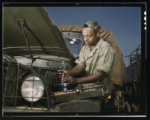 Colored mechanic, motor maintenance section, Ft. Knox, Ky.  (LOC) | by The Library of Congress