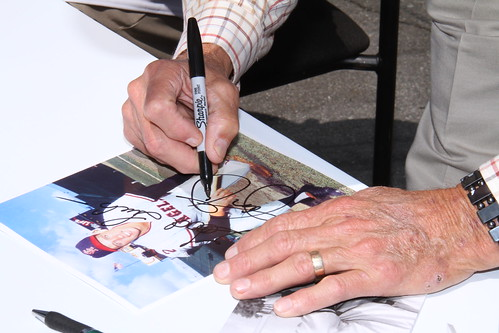 Jay Johnstone, former Major League Baseball player, signing autographs | by American Wind Energy Association