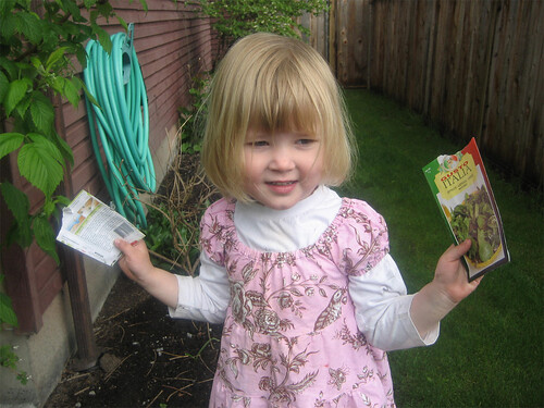 Hannah and her seed packets | by AmberStrocel
