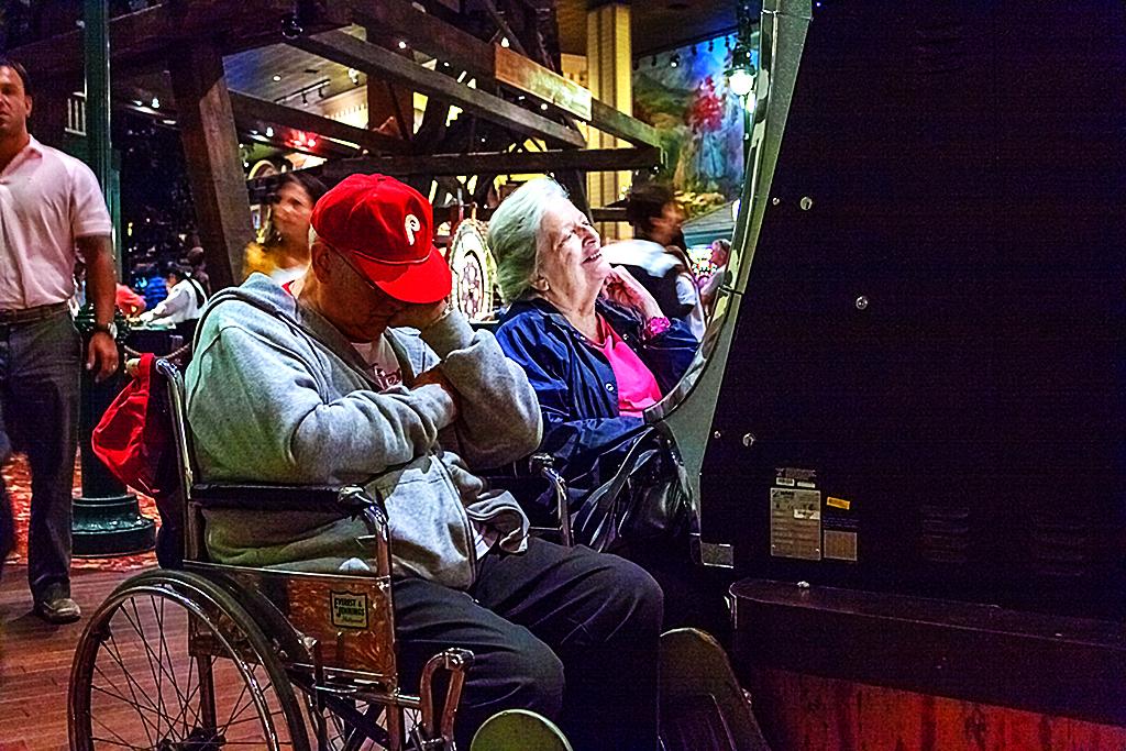 Couple at slot machine--Atlantic City