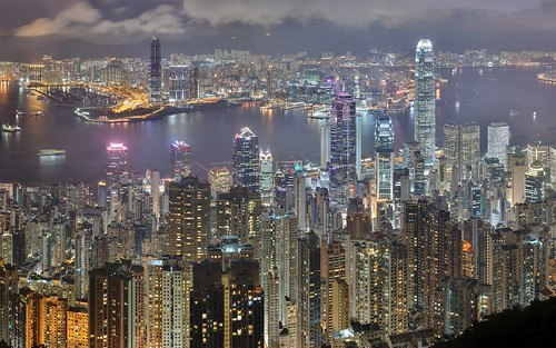 Skyline hong kong china panorama of the hong kong for Trodel mobel