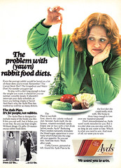 Vintage Ad #837: The Problem with (yawn) rabbit food diets | by jbcurio