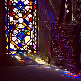 Reflections through a stained glass window | by billnbenj