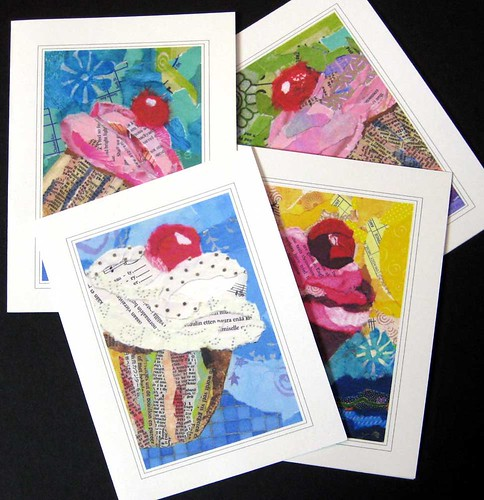 Cupcake notecards SET | by wme133