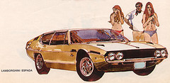 Lamborghini Espada. Art by Bill Klemm. | by Goobalin
