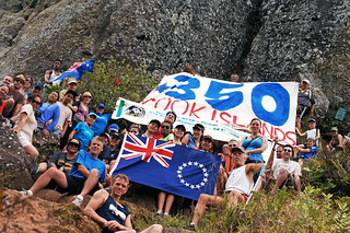 The 350 Cook Islands Group on Te Rua Manga during the Trek for Climate Action | by 350.org