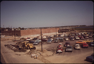 Airlines Food Services Building Construction Seen from Upper Level of Wood Island Statio | by The U.S. National Archives