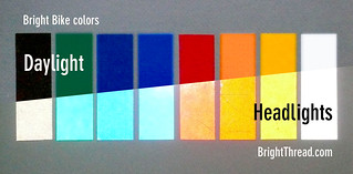 Bright Bike color chart | by mandiberg