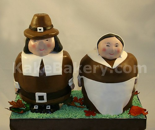 Thanksgiving_Pilgrim_Cake | by KakeBakery2009