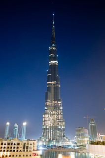 Burj Dubai at night | by Joi