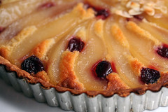 pear & cherry tart | by David Lebovitz