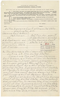 Petition for a Writ of Certiorari from Clarence Gideon to the Supreme Court of the United States, 06/05/1962 (page 1 of 5) | by The U.S. National Archives