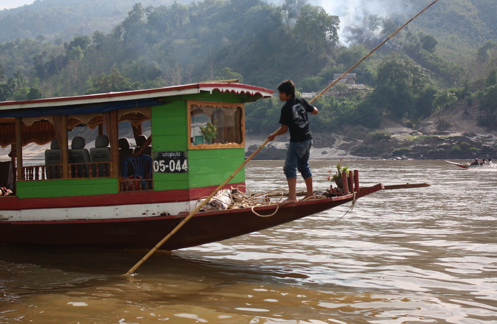 The slow boat up the Mekong River in Laos