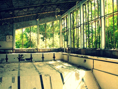 Swimming pool in the abandoned school in Pripyat' / Chernobyl, Ukraine | by Daniel Kliza