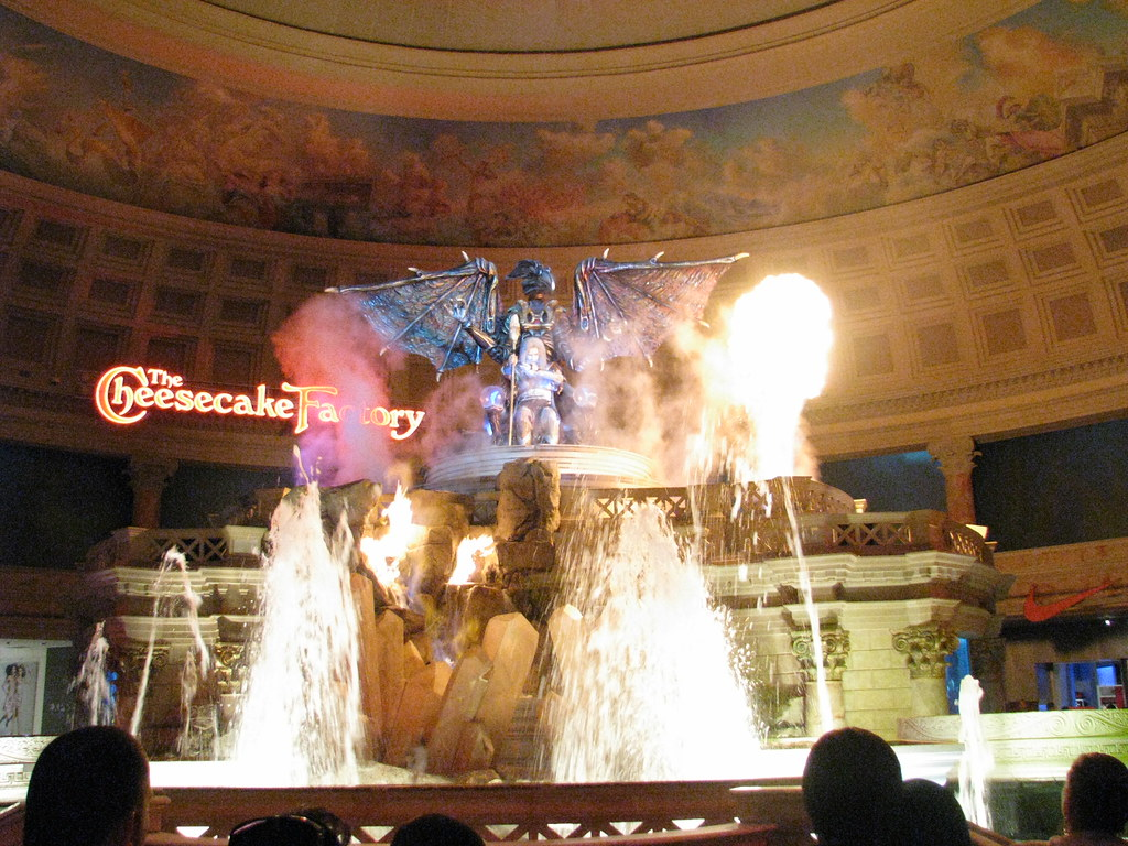 Fall of Atlantis at Caesars Palace Forum. Image: Wilson Look Kok Wee, CC. Las Vegas with kids.