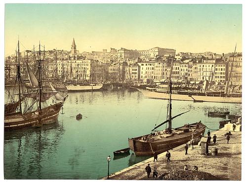 [Old Harbor (Vieux-Port), Marseille, France, with Hôtel-Dieu Hospital in background] (LOC)