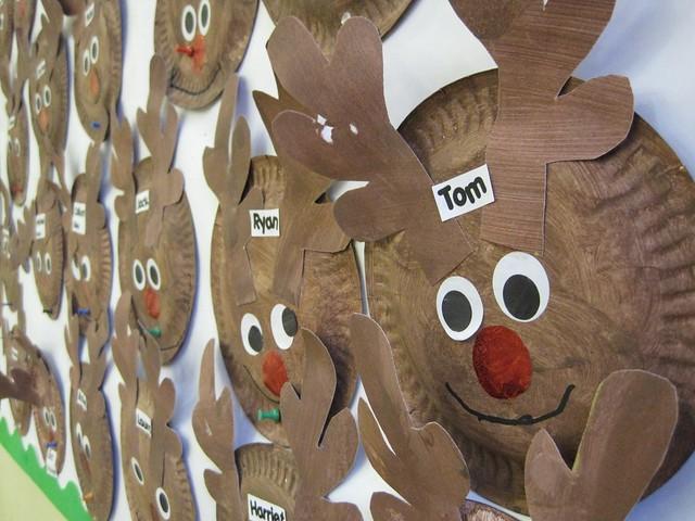 Paper Plate Reindeer Preschool Art Craft I Nikkilynndesign.com