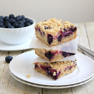 Blueberry-Streusel Bars with Lemon Cream Filling | by Tracey's Culinary Adventures