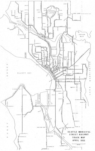 1933 Seattle Streetcar Map | by Seattle Department of Transportation