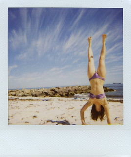 Beach Handstanding | by Jessse [ANALOGUE]