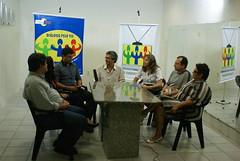 Visita de líderes sindicais