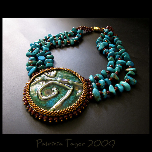 Turquoise Shield - Necklace OOAK | by Triz Designs