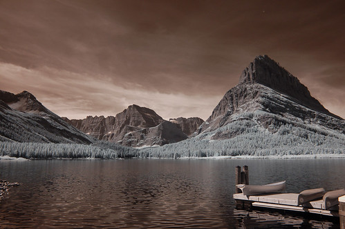 Swiftcurrent Lake  and Boat Dock - Infrared | by Bill Gracey