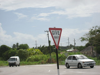 Barbados Give Way sign | by Corvair Owner