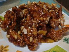 Abigail Mosqueda's sweet and crispy chicken dish (dakkangjung) | by maangchi