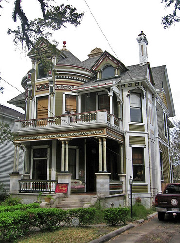 Queen anne style house mobile alabama 1216 government for Modular victorian homes