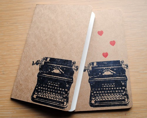 typewriter love, plain pocket cahier moleskine | by Amanda Oaks