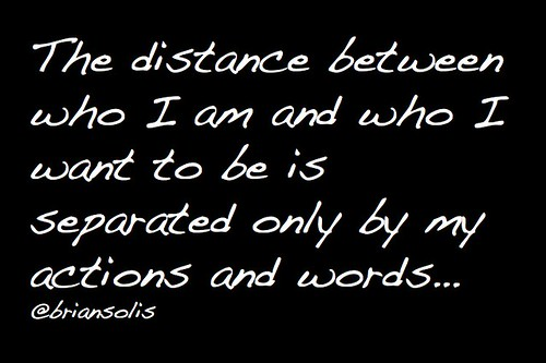 The distance between who I am and who I want to be... | by b_d_solis