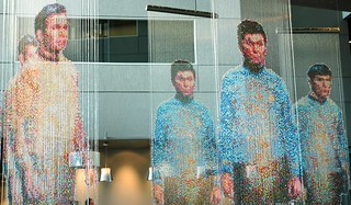 Spock, Kirk and McCoy: Beaming-In (In-Between), sculpture by Devorah Sperber, Microsoft, Studio D, Redmond, Washington, USA | by Wonderlane