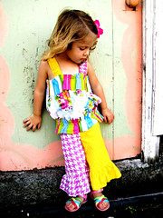 Summer Soiree Buble Top and Ruffle Capris | by Palm Tree Princess