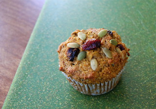 pumpkin cranberry supremely healthy seeded muffin | by Justin Snow