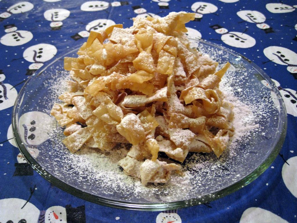 Italian Bow Tie Cookies Recipe Cenci Alla Fiorentina